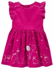 NWT GYMBOREE LITTLE GIRLS  STARRY NIGHT FUSHIA  ANIMAL PARTY CORDUROY DRESS 6-12