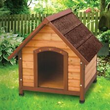 New listing Small Outdoor Wood Dog House - Made of Solid Fir Wood For Small Breed