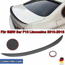 für BMW F10 5er Performance Look Heckspoiler Carbon Fiber Optik Kofferraum Lippe