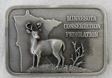 SOLID PEWTER BELT BUCKLE MINNESOTA CONSERVATION FEDERATION 1983 LIMITED ED.