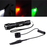 CISNO Waterproof T6 LED Tactical Flashlight Light +2 in 1 Pressure Switch