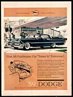 1959 DODGE Custom Royal Lancer Dark Blue 2-dr Hardtop Coupe Vintage Car AD