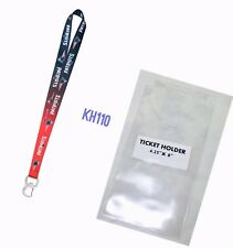 NFL New England Patriots Keychain & Bottle Opener Lanyard+Ticket Holder