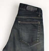 Acne Jeans Hommes Mic Dry Smudge Slim Jeans Jambe Droite Taille W32 L32 ATZ75