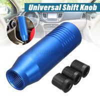 Universal Aluminum Manual Car Auto Gear Stick Shift Knob Shifter Lever Blue  +-