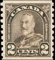 Mint Canada 1931 2c Coil VF Scott #182 KG Arch-Leaf Stamp Never Hinged