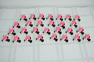 Vintage lot of 25 Minnie Mouse Plastic Ring Cupcake Topper Novelty Gift