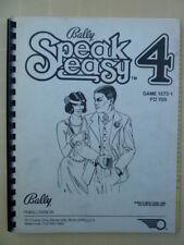 PINBALL SPEAK EASY 4 MANUAL