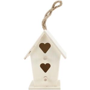 "Wood Craft 4"" Birdhouses w/Jute Cord 3 Style Assortment 36pk-"