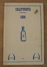 "1896 AVON Advertising Booklet/Catalog~""CALIFORNIA PERFUME"" REPRINT~"