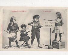 Les Quatz Arts La Musique Children France 1905 Postcard 883a