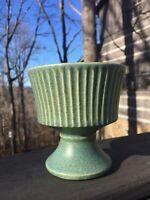 """Vintage McCoy Floraline Ribbed Pedestal Flower Vase,4-1/2""""ht"""