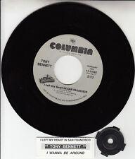 "TONY BENNETT  I Left My Heart In San Francisco 7"" 45 record NEW + jukebox strip"