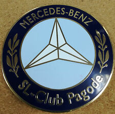 Mercedes Benz SL Club pagode shield metal badge plate emblem