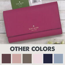 NEW Kate Spade Phoenix Large Leather Trifold Wallet Clutch Purse MSRP up to $278