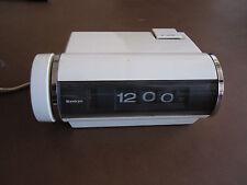 white NICE! Vintage Sankyo 401 Digital Alarm Clock Japan Flip Style Mid Century