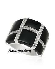 $590 FPJ Attractive Ring 11.01ctw GENUINE Onyx Topaz 925 Sterling Silver 60% OFF