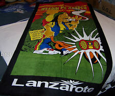 Lanzarote Weedin Me Garden Novelty Printed Cotton Beach Towel 75cm x 150cm New