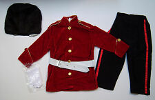 NWT 3/3T-4/4T Red Royal Palace Guard Toy Soldier Costume & Black Faux Fur Hat