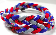 "Sale 20"" 3 Rope Twist Titanium Sport Necklace Royal Blue Red Gray Tornado Bills"