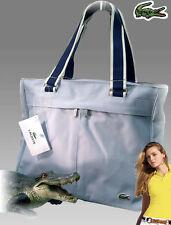 LACOSTE Womens Ladies Shoulder Vertical TOTE Bag Casual 19 Ice Blue AUTHENTIC