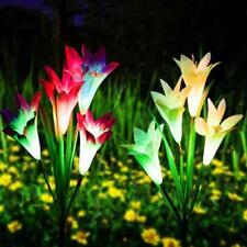Solar Powered Lily/Cherry/Dandelion Flowers Lights Yard Garden Outdoor Lamp Deco