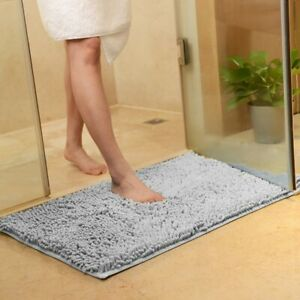 microfibre anti-slip Bath mat rug bathroom toilet shower carpet non slip fibre