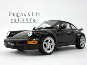 Porsche 911 / 964 Turbo 1/24 Scale Diecast Metal Model by Welly - Black