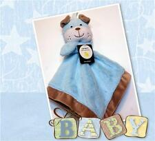 NEW CARTERS BLUE PUPPY DOG BULLDOG LOVEY BABY BLUE SECURITY BLANKET CARTER'S