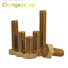 Select M4 M5 M6 Solid Brass Hex Head Cap Screws Bolts Right Hand Thread #QR17 ZX