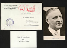 SIGNED photo of Pierre Werner, Prime Minister of Luxembourg & father of the Euro