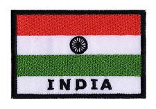 Patch écusson patche transfert badge drapeau Indien INDE 70 x 45 mm coudre