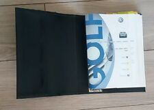 VW GOLF OWNERS MANUAL handbook and WALLET 2003