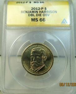 2012 Harrison dollar ANACS MS66 *DDO* BR