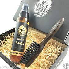 man's beard - fabrication française - coffret huile à barbe et brosse à barbe