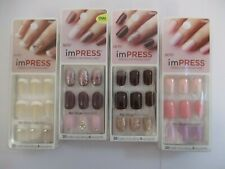 4 PACK KISS IMPRESS NAILS PRESS ON MANICURE - ASSORTED - NEW/SEALED - EL 1251
