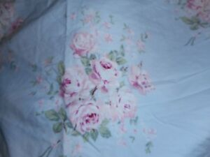 Simply Shabby Chic BELLA FLORAL ROSE Blue Pink STD Shams Cotton PAIR (2) NWOT
