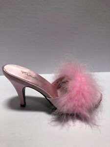 Pleaser Women's Fabulicious, Heeled Sandal-Pink, Size 5M.