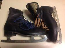 Black Leather Vintage Figure Ice Skates 10