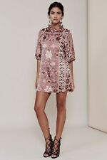 for love and lemons Teresa silk mini dress