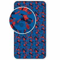 Officiel Marvel Spiderman Simple Drap-Housse 100% Coton - Garçons, Enfants