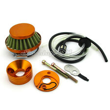 Air Filter Carb Adapter Stack Fuel Hose Mini ATV Dirt Pocket Bike Scooter Moped