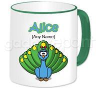 Personalised Animal Peacock Bird Mug Coffee Tea Cup Novelty Birthday Gift Idea
