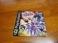 Spyro Year of the Dragon PS1 Black Label Manual Only (Sony Playstation 1)