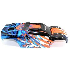 Traxxas E-Revo 2.0 VXL 1/10 Orange Blue White Body Painted Includes Body Support