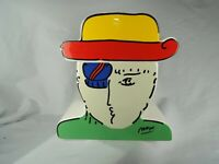 Peter Max Zero Man Cookie Jar, 1989, Vintage, Ceramic, Two Piece, Collectible
