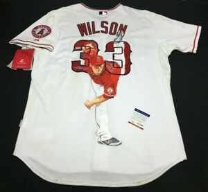 CJ Wilson Signed Hand Painted Majestic Jersey *William Zavala PSA Y97489
