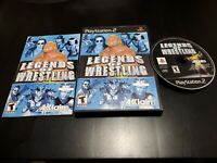 Legends of Wrestling (Sony PlayStation 2, 2001) CIB! W/ REGISTRATION! MINTY DISC