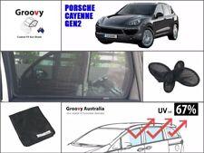 Groovy Car Sun Shades PORSCHE CAYENNE (2011~2017). 4-PCS Rear Door Windows Mesh