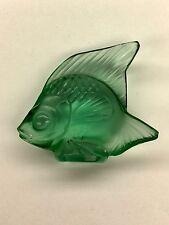 Lalique Crystal Fish - emerald green